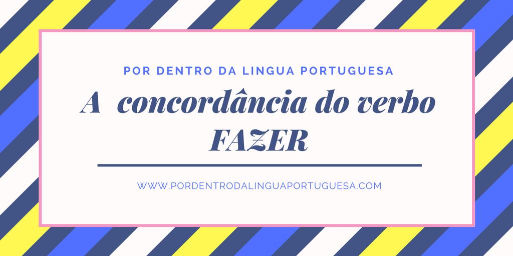 A concordância do verbo FAZER